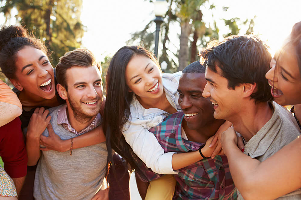 beginnings treatment centers aftercare program happy friends in recovery