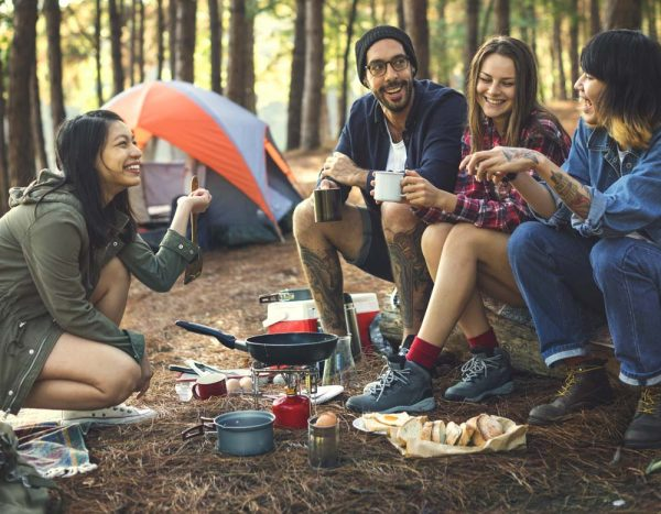 beginningstreatment-Losing-a-Loved-One-to-Addiction-How-to-Copefriends-camping-eating-food